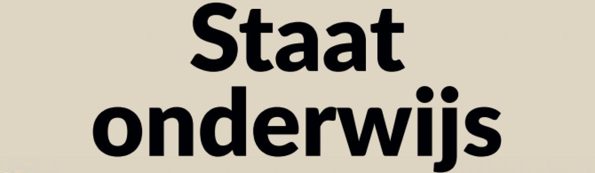 Onderzoeksrapport 'De Staat van het Onderwijs – Hoe staat het ermee?